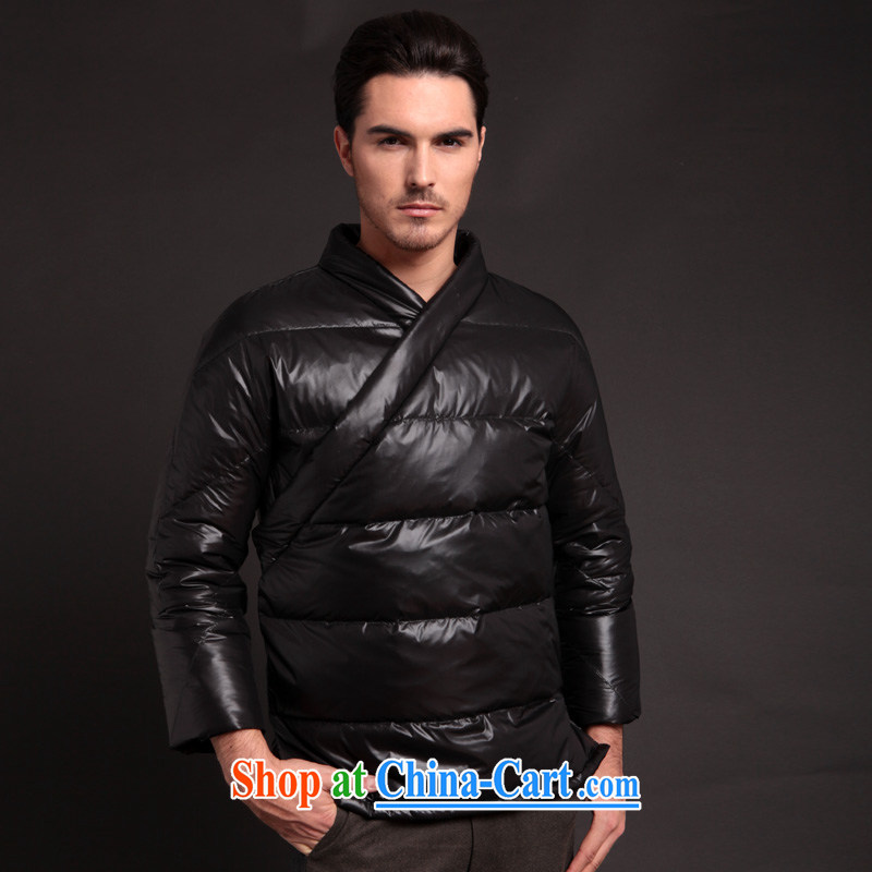 Fujing Qipai Tang Tang fitted jacket improved a large-mouth new Han-jacket autumn and winter, and serving casual down jacket original 281 black S
