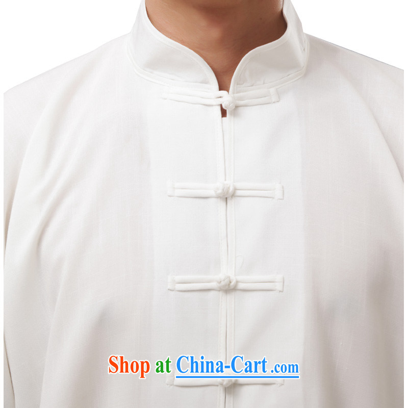 Charlene this cabinet from the middle-aged and older men's summer National wind Chinese Kung Fu relaxed the father exercises his tai-chi Kit Package - Tai Chi uniform white long-sleeved 4 XL, Charlene this pavilion, shopping on the Internet