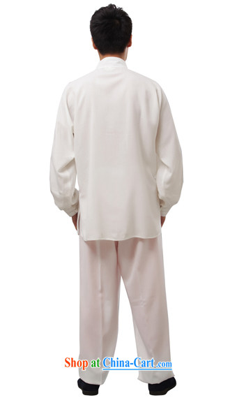 Charlene this cabinet from the middle-aged and older men's summer National wind Chinese Kung Fu relaxed with father exercise clothing Tai Chi Kit Package - Tai Chi uniform white long-sleeved 4 XL pictures, price, brand platters! Elections are good character, the national distribution, so why buy now enjoy more preferential! Health