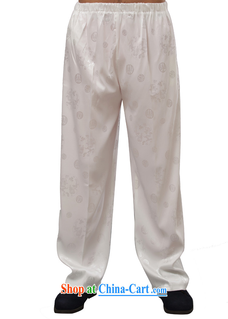 Yan Shu in older men's autumn pants traditional national costume jogging pants casual relaxed Elasticated waist trousers - a long pants white 4XL pictures, price, brand platters! Elections are good character, the national distribution, so why buy now enjoy more preferential! Health