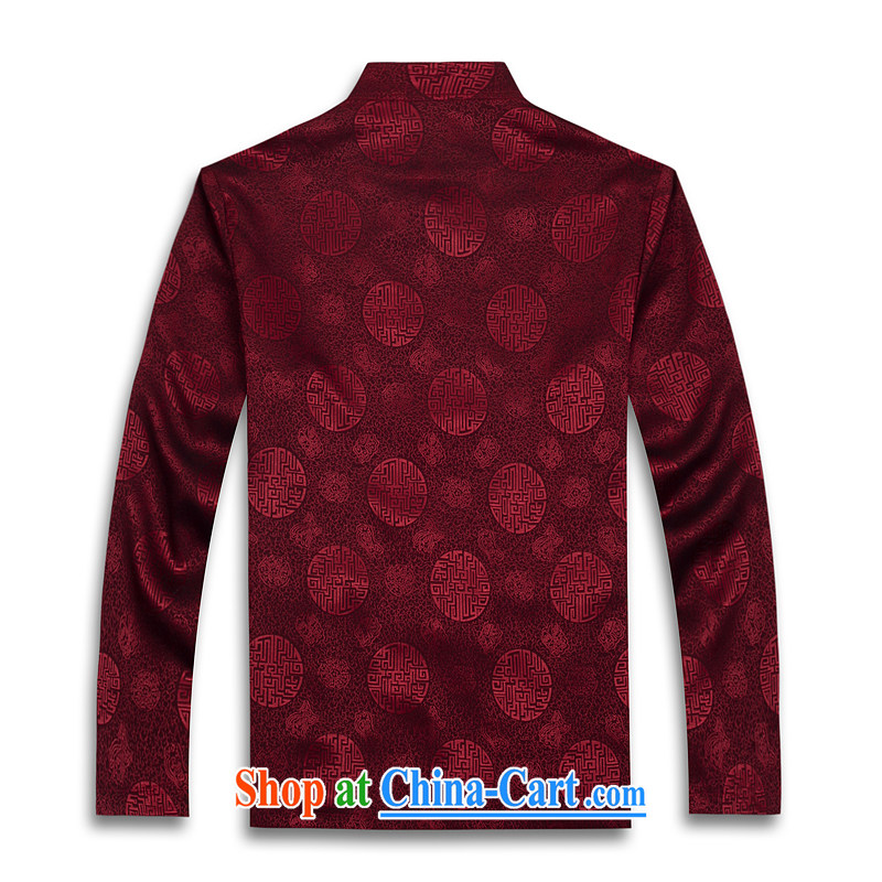 Hot Spring 2015 with new products, the BMW China wind long-sleeved Chinese silk men's T-shirt T shirts stylish Tang service shirt red XXXL, law, and, on-line shopping