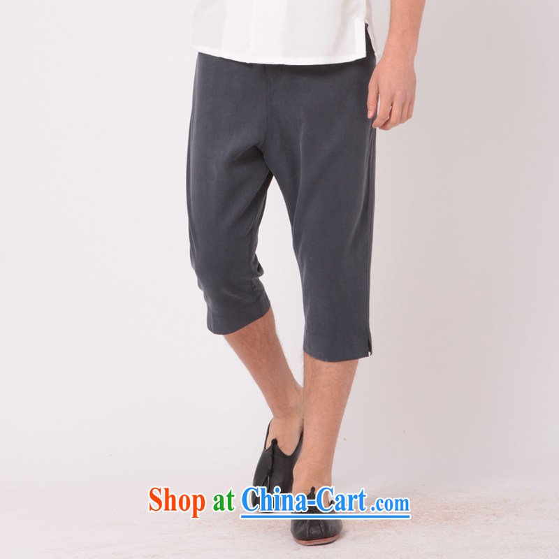 Fujing Qipai Tang low-level cross-pants and stylish lounge 7 pants Tang load lifting pants personalized large civil, trouser press original summer men's trousers in trend shorts 352 gray XL