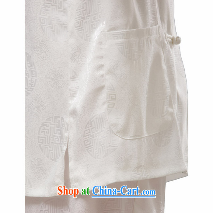 Charlene Choi this Pavilion, older men and Tang with the collar-tie casual morning exercises, set silk fabrics father Kit - a short-sleeve white XL pictures, price, brand platters! Elections are good character, the national distribution, so why buy now enjoy more preferential! Health