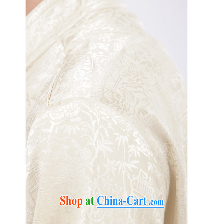 Yan Shu cabinet men Chinese leisure Chinese men and T-shirt Tai Chi clothing traditional clothing exercise clothing morning exercises - the River During the Qingming Festival short-sleeved T-shirt beige 4 XL pictures, price, brand platters! Elections are good character, the national distribution, so why buy now enjoy more preferential! Health