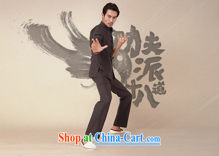 Fujing Qipai Tang China wind national style kungfu shirt cotton Ma Long-Sleeve Chinese men and Han-chinese-tie personality and jackets 369 dark gray XL pictures, price, brand platters! Elections are good character, the national distribution, so why buy now enjoy more preferential! Health