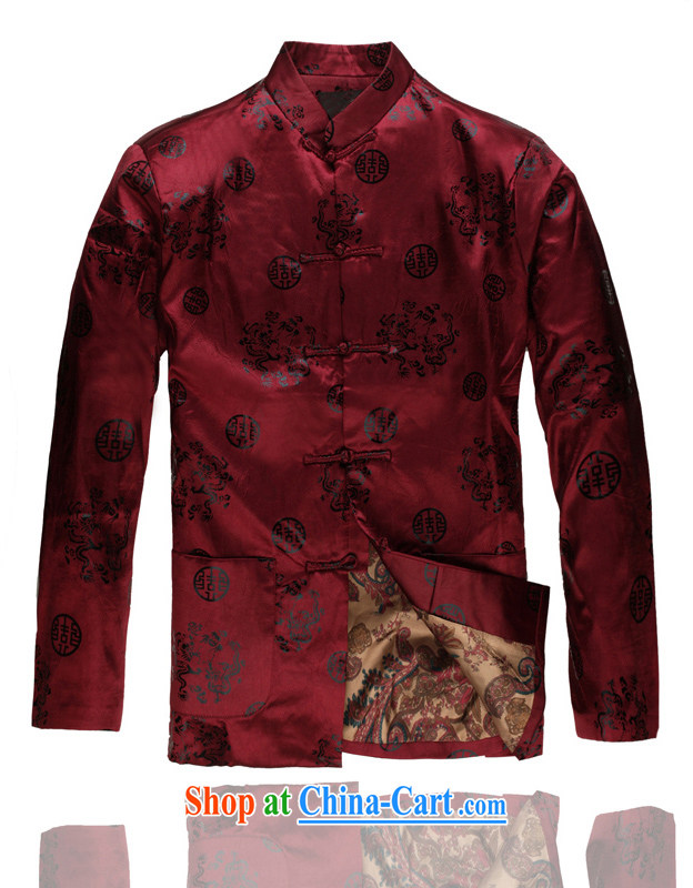 2015 spring new products, the PO boy leisure Chinese Chinese, for Chinese C - 0111 mauve XXXL