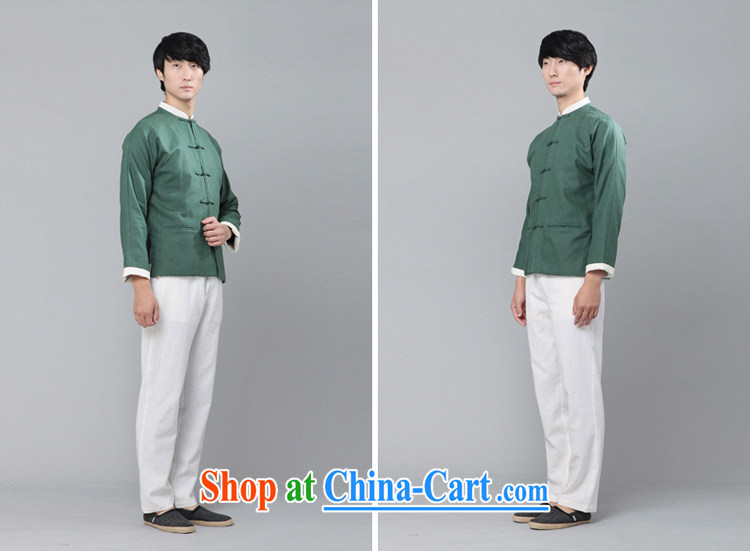 Fujing Qipai Tang China wind up collar shirt original Bao Tang with stylish retro cotton Ma T-shirt Han-male and ethnic Chinese long-sleeved knocked color jacket 006 dark blue XL pictures, price, brand platters! Elections are good character, the national distribution, so why buy now enjoy more preferential! Health