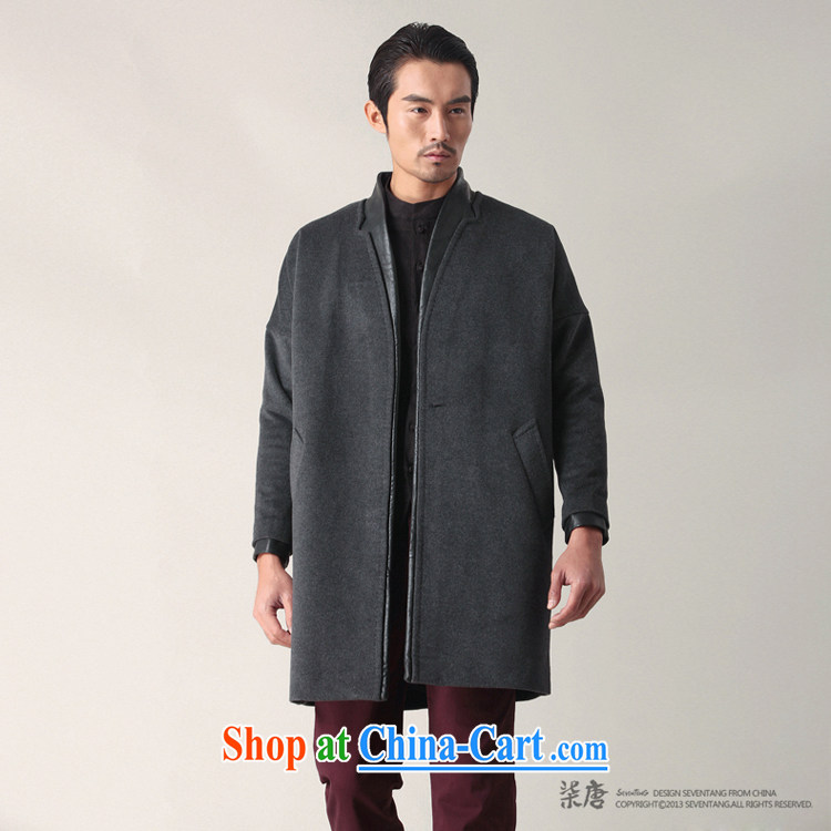 Fujing Qipai Tang China, Han-collar wool coat so long leather coats the Chinese wind jacket male and cultivating business stylish casual jackets fall short with 02,401 black L pictures, price, brand platters! Elections are good character, the national distribution, so why buy now enjoy more preferential! Health