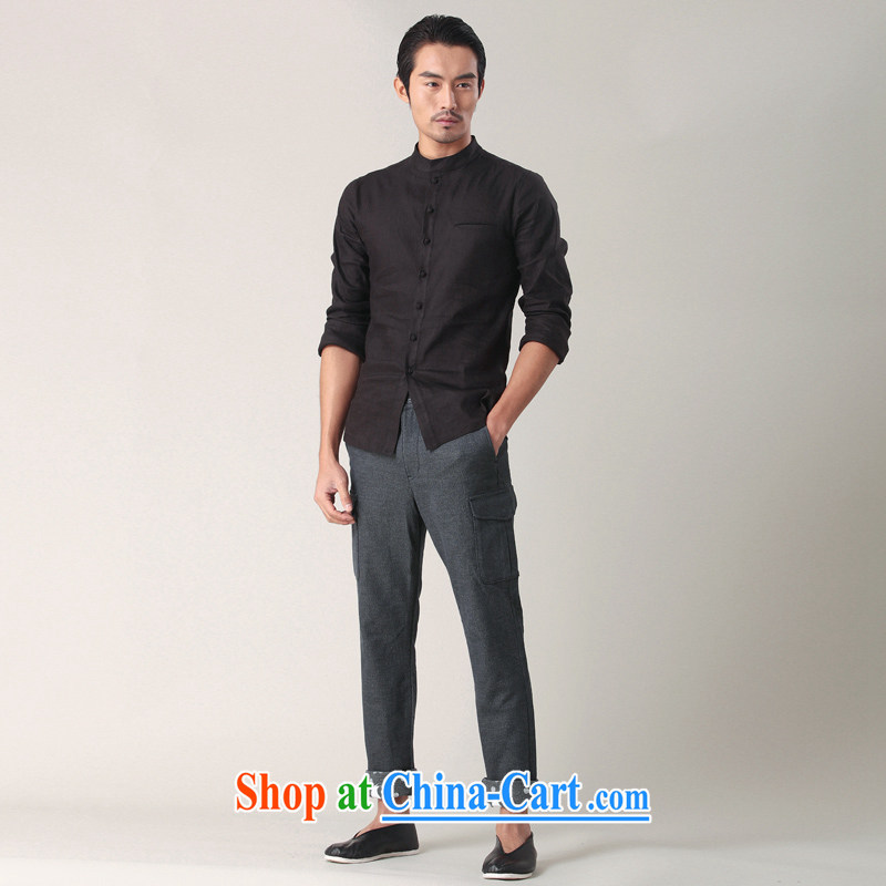 Fujing Qipai Tang not very road China wind stamp pants male and personality-pull pin trousers short pants聽rolled tread more pocket pants spring reload 002,013 dark gray XL, Fujing Qipai Tang (Design seventang), online shopping