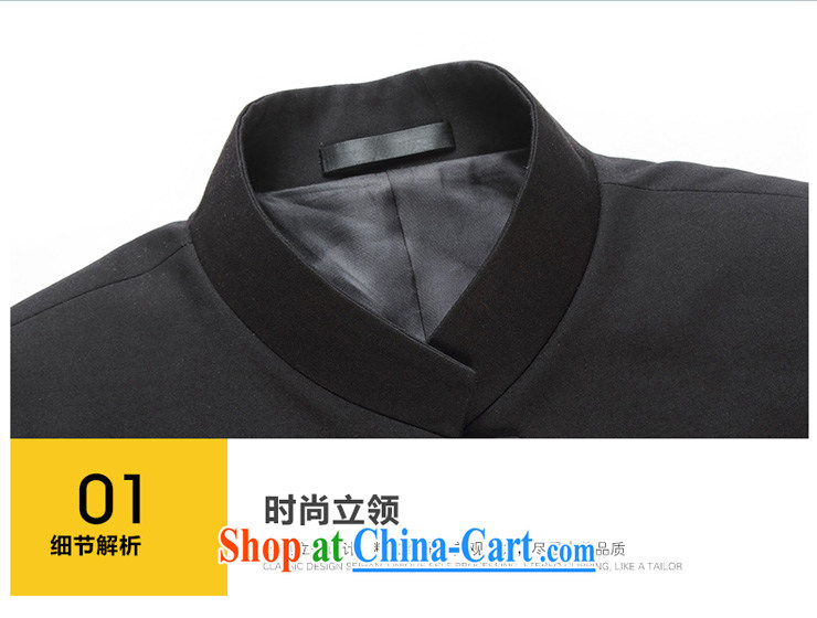 Houston tower 2015 new Chinese wind smock Tang jackets and China, for Korean Beauty groom, who accompanied by wedding dress, men's single, black thin stripes jacket 175/48, pictures, price, brand platters! Elections are good character, the national distribution, so why buy now enjoy more preferential! Health