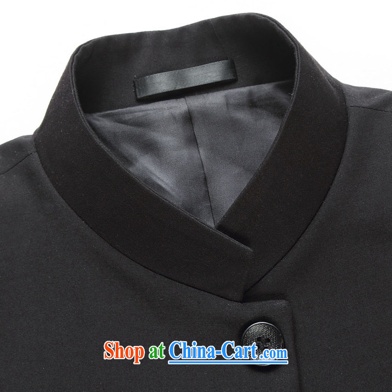 Houston tower 2015 new Chinese wind smock Tang jackets and China, for Korean Beauty groom, who accompanied by wedding dress, men's single, black thin stripes jacket 175/48, Houston Tower (Suitup), and, on-line shopping