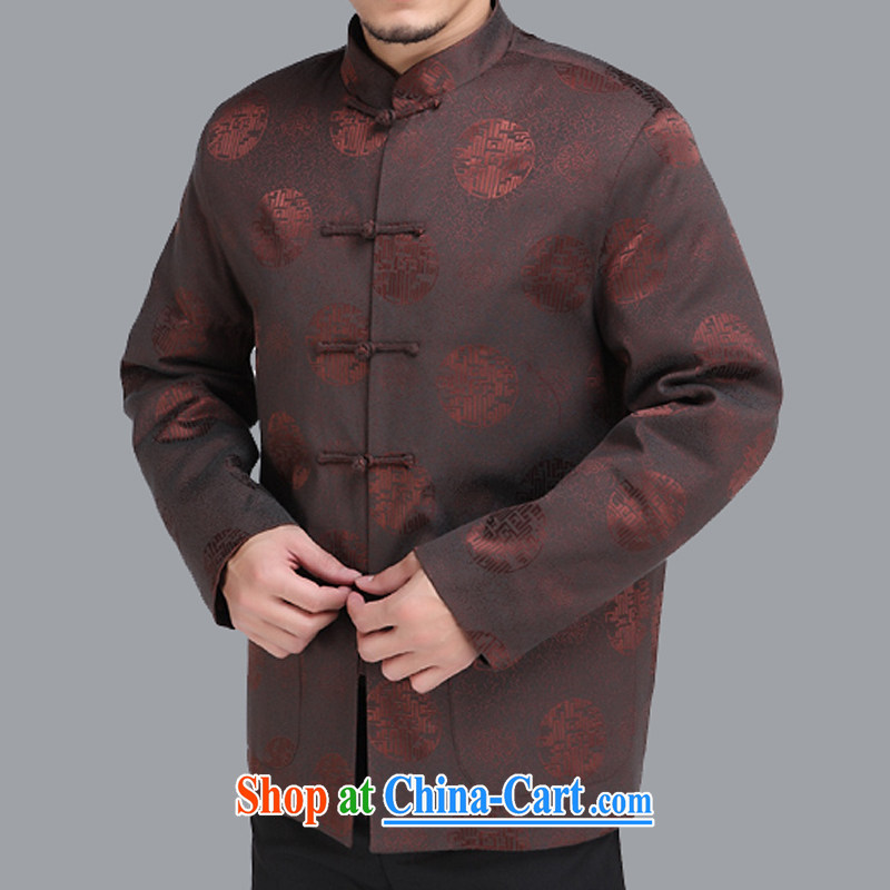 Adam's old 2015 autumn and winter new middle-aged and older men and Tang jackets 1000 Jubilee older men and Chinese men's national costume M 207 brown 175, spring,