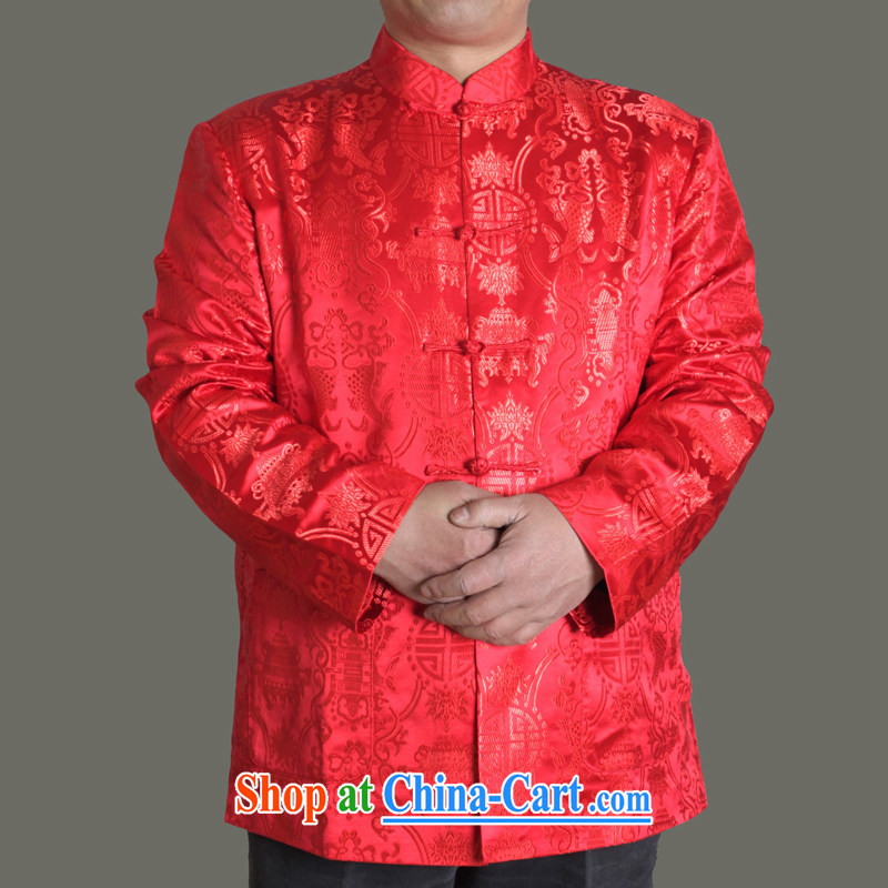 Adam's old 2015 autumn and winter, the male Tang jackets fall in the old life and older persons birthday clothing Y 713 maroon 190, Adam's elderly, shopping on the Internet