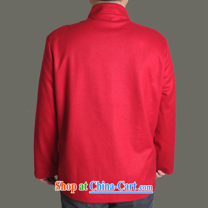 Adam's old 15 autumn and winter, the male Tang jackets sting-soo, a solid color Chinese men's autumn older clothing father superior Chinese Y 717 red 190, Adam's elderly, shopping on the Internet