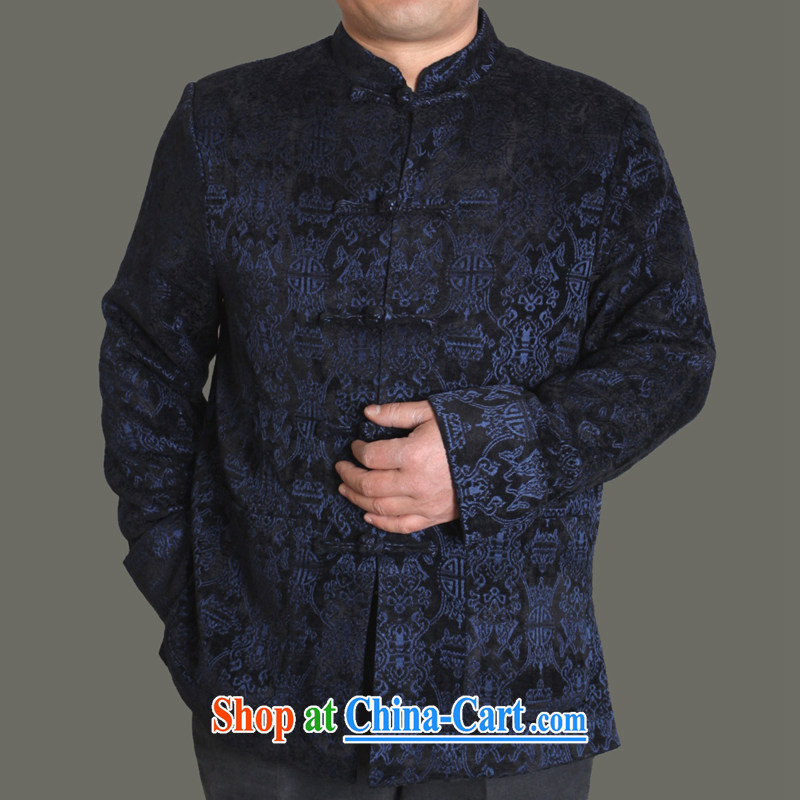 Adam's old 2015 autumn and winter, the male Tang with good men Tang jackets male and middle-aged and older Chinese style autumn middle-aged male Y 722 blue 190