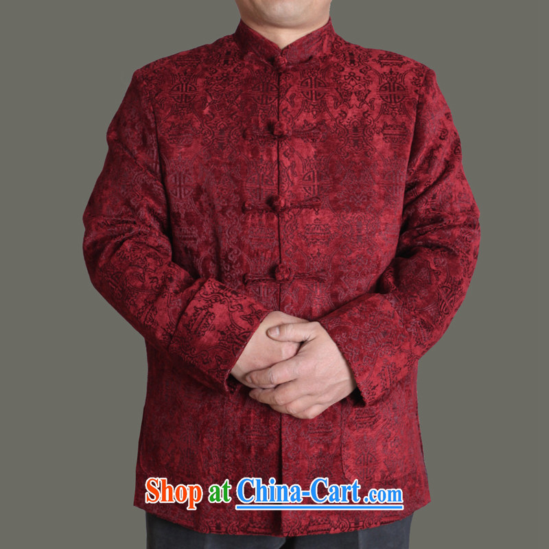 Adam's old 2015 autumn and winter, the male Tang with good men Tang jackets male and middle-aged and older Chinese style autumn middle-aged male Y 722 blue 190, Adam's elderly, shopping on the Internet