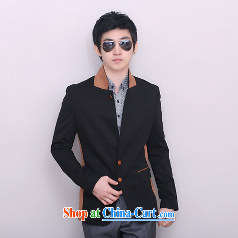 New jacket, men, for leisure knitted T-shirt men's beauty stitching smock black stitching 185/100 (XXL)