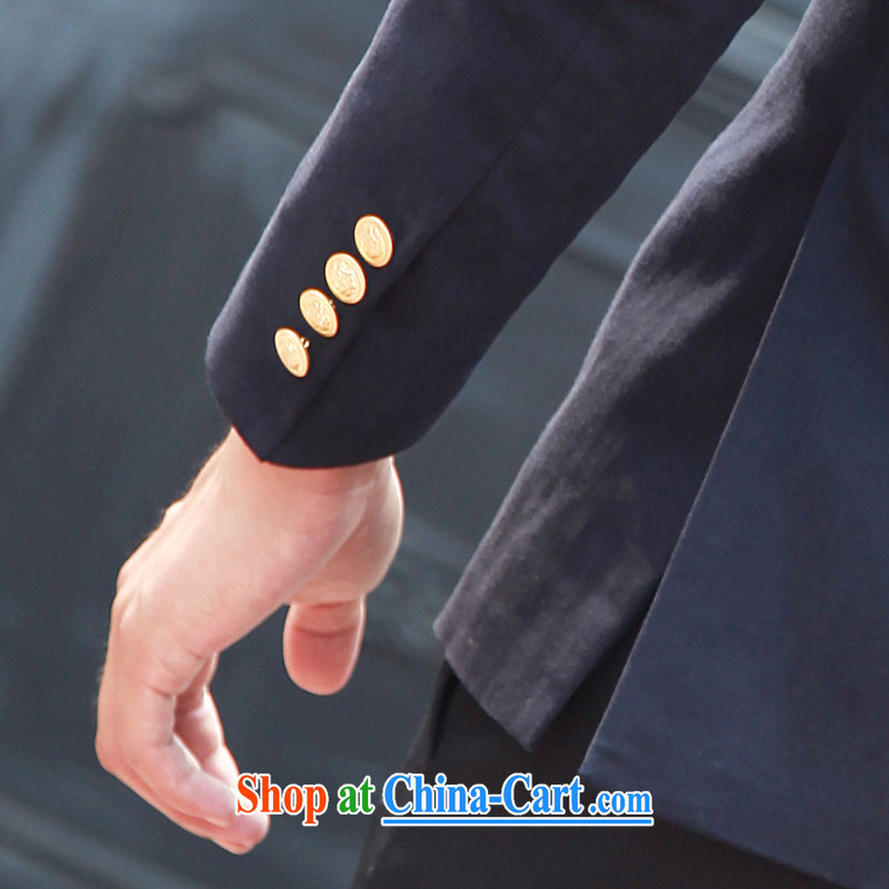 2014 spring New Men's suit jacket and casual beauty, blue collar smock 185/ (XXL), Tsing Paul (JIANQINGBAOLUO), shopping on the Internet