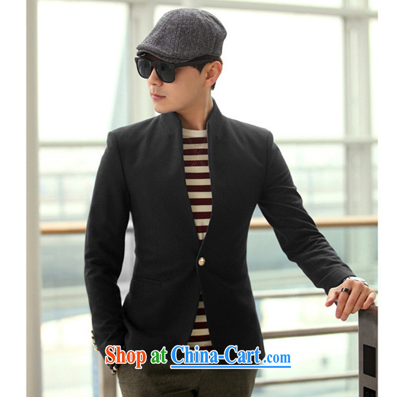 Tian, a spring loaded new man, suit jacket black beauty and style cool smock 185_ _XXL_