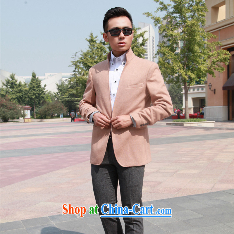 New men's jackets men's and for leisure on a decorated Korean wool Smock is 185_100, XXL_