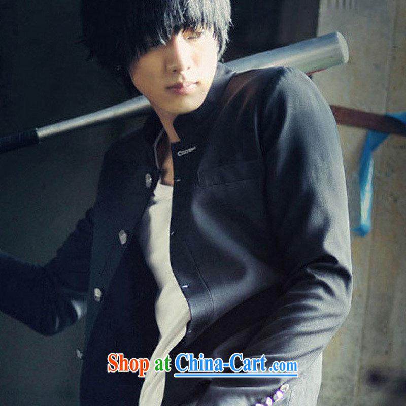 Dan Jie Shi 2015 spring men's new Korean version Leisure Suit jacket, for cultivating small suit Male smock men's 1803 black M, Dan Jie Shi (DANJIESHI), online shopping
