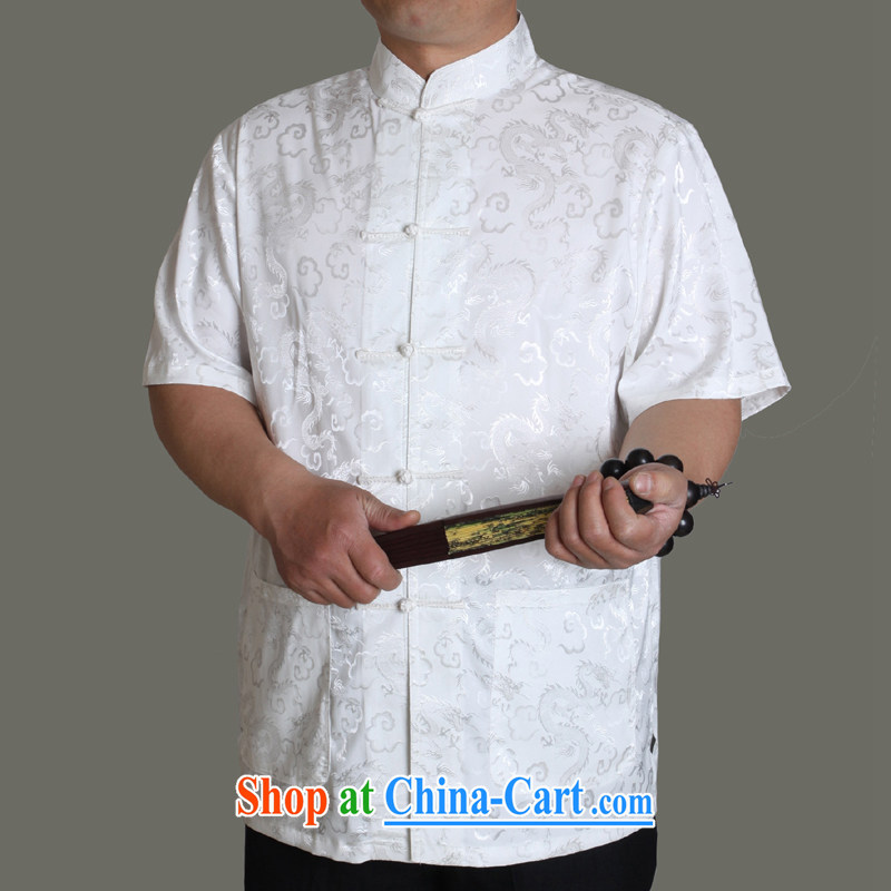 Huge benefit package-summer 15 new upscale men's short-sleeved Chinese T-shirt, men's clothing ethnic clothing father summer China wind male Y Y 0952 190 Gray/single T-shirt, old Adam, shopping on the Internet