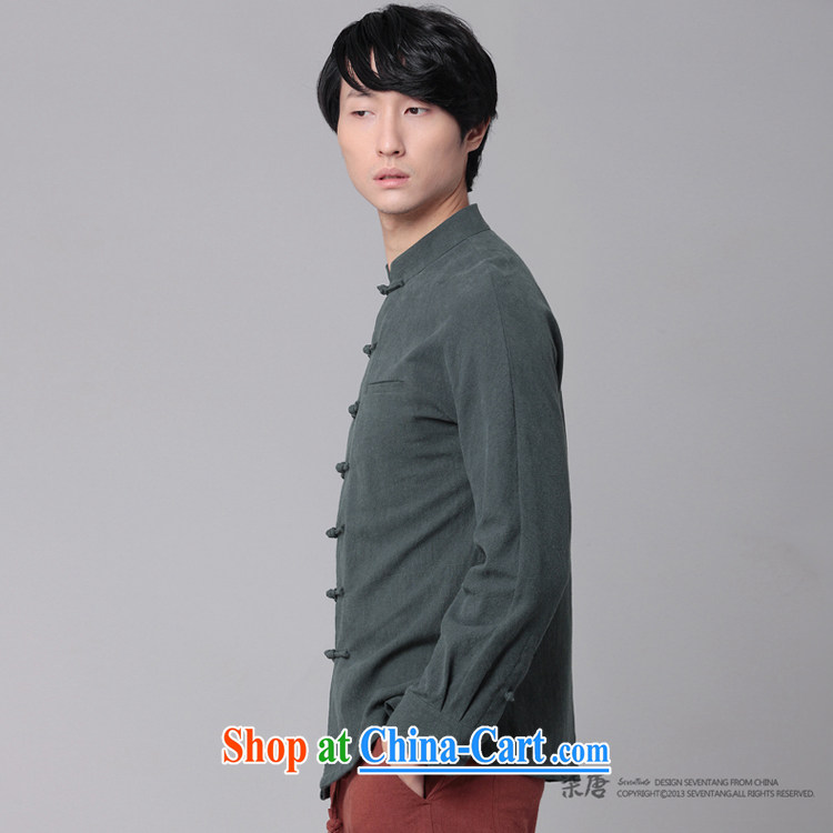 Fujing Qipai Tang China wind men's shirts national cotton Ma-tie, collar shirt leisure and business Chinese shirt and replace the original innovation, National shirt 01,308 black XL pictures, price, brand platters! Elections are good character, the national distribution, so why buy now enjoy more preferential! Health