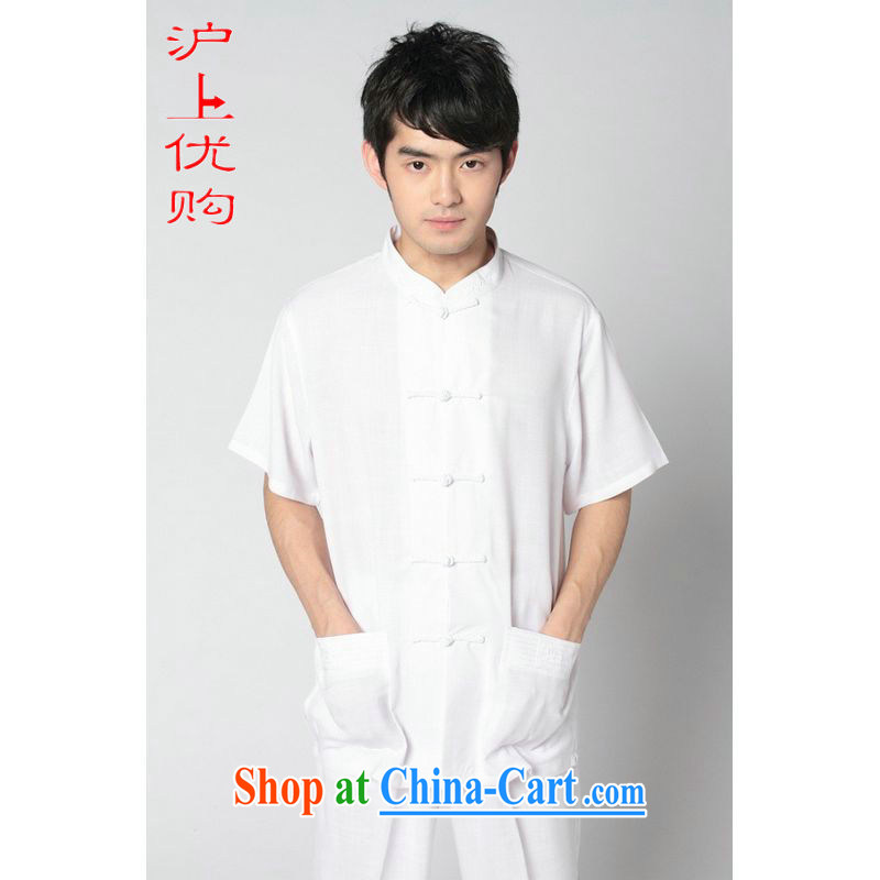 Shanghai, optimize purchase middle-aged and older Chinese men and summer cotton MA, for Chinese men's short-sleeved larger male 2350 - 7 white shirt XXXL recommendations 180 - 195 jack