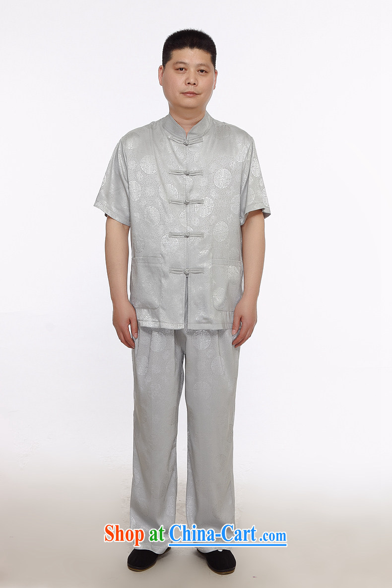 The chestnut Mouse middle-aged and older Chinese men and older persons summer With Grandpa men short sleeve with Ethnic Wind father with gray 175/2 XL pictures, price, brand platters! Elections are good character, the national distribution, so why buy now enjoy more preferential! Health