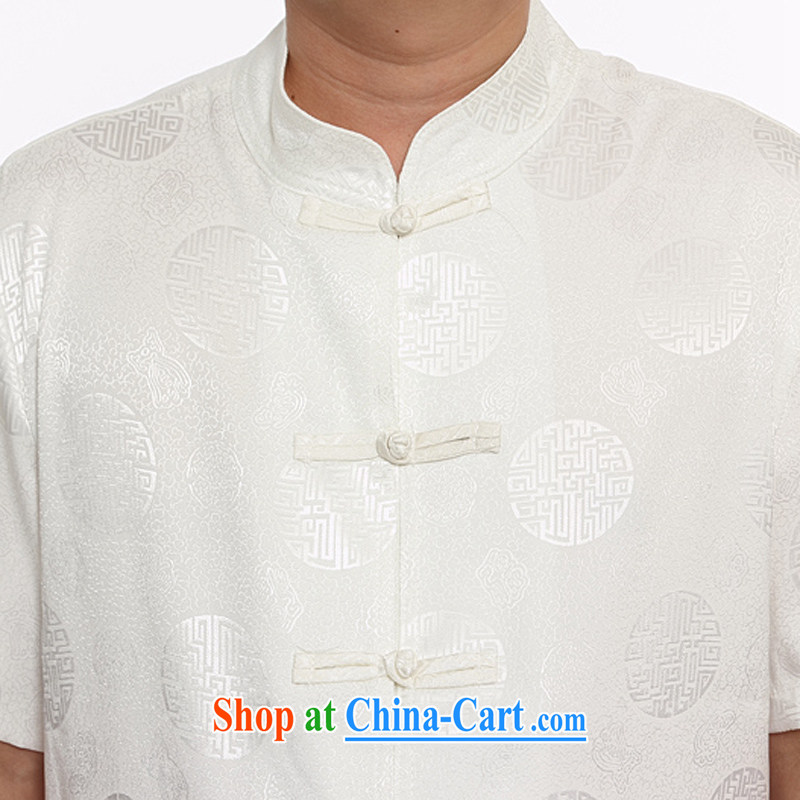 The chestnut Mouse middle-aged and older Chinese men and older persons summer With Grandpa men short sleeve with Ethnic Wind father with gray 175/2 XL, the chestnut mouse (JINLISHU), shopping on the Internet