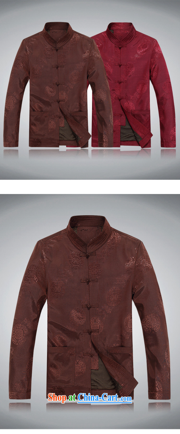 The chestnut mouse Tang fitted jacket with autumn Men/older/, Chinese men and long-sleeved T-shirt men's spring men's Tang red Shuangxi Tang fitted jacket red M/170 pictures, price, brand platters! Elections are good character, the national distribution, so why buy now enjoy more preferential! Health