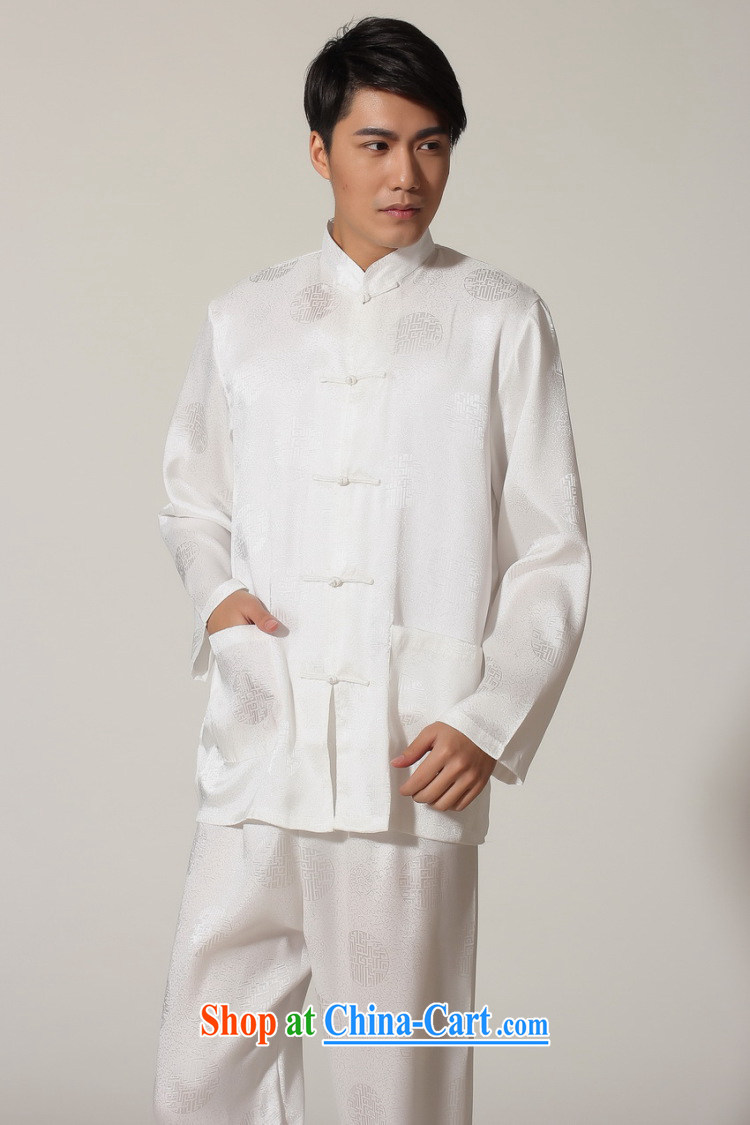 Jing An older Chinese men's spring and summer, for silk long-sleeved Kit Chinese men kung fu Kit Tai Chi uniforms M 0049 white 3XL (180 - 210 ) jack pictures, price, brand platters! Elections are good character, the national distribution, so why buy now enjoy more preferential! Health