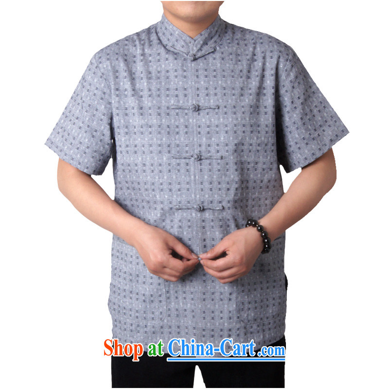 sureyou tang on national dress short-sleeved men's summer leisure China wind male cotton the Chinese explosion, light gray 190, the British Mr Rafael Hui (sureyou), shopping on the Internet