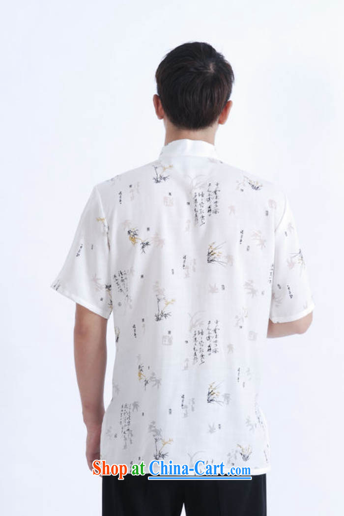Ko Yo vines into colorful 2015 men's summer cotton the tray snaps, in older male Tang is short-sleeved men's national dress casual Tang with white XXXL pictures, price, brand platters! Elections are good character, the national distribution, so why buy now enjoy more preferential! Health