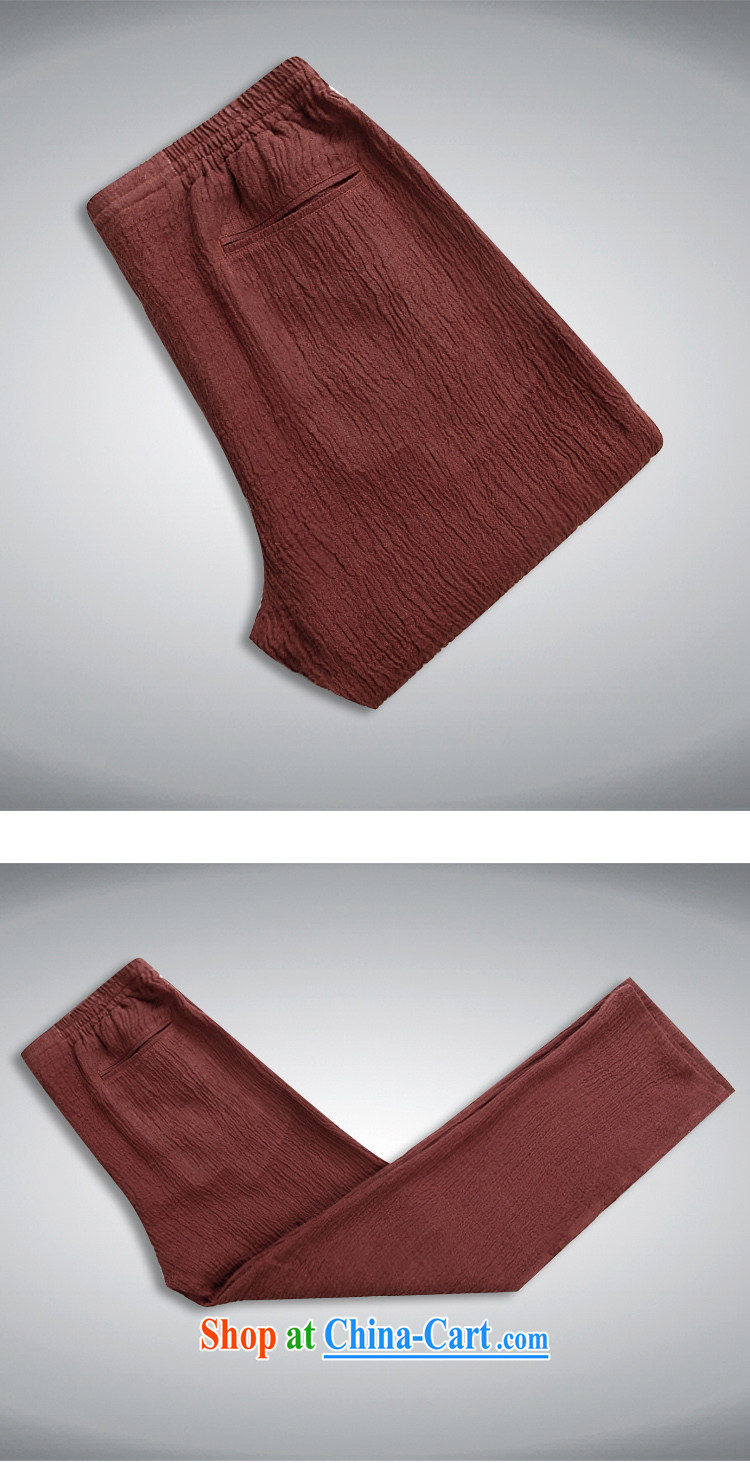 Sureyou men's trousers 15 new men and upscale linens washable 100% pants men's trousers Elasticated waist trend of deep red 190 pictures, price, brand platters! Elections are good character, the national distribution, so why buy now enjoy more preferential! Health
