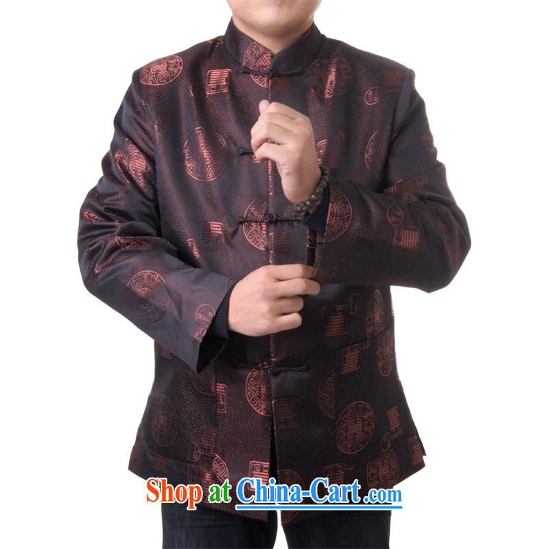 sureyou male Chinese Chinese clothing leisure Chinese autumn and winter, the older Chinese, for promotion 715 brown 190