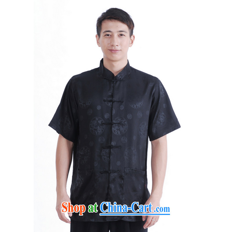 Take the 2014 new summer short of replacing the collar-tie pockets and stylish T-shirt men's 9 has the T-shirt 16 black XL