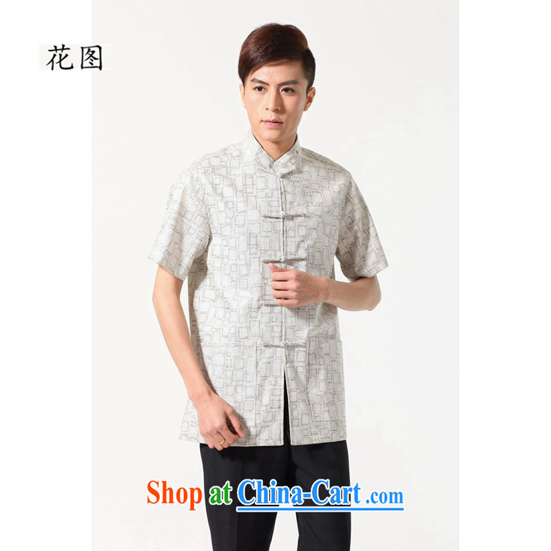Take the 2014 new stylish, old father with male Chinese men, cotton, the Commission adopted the withholding retro shirt 0054 XL