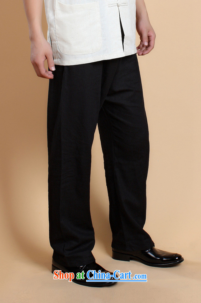 Take the 2014 new stylish summer, older father with men's cotton the solid color retro Chinese lanterns trousers - 3 white XXXL pictures, price, brand platters! Elections are good character, the national distribution, so why buy now enjoy more preferential! Health