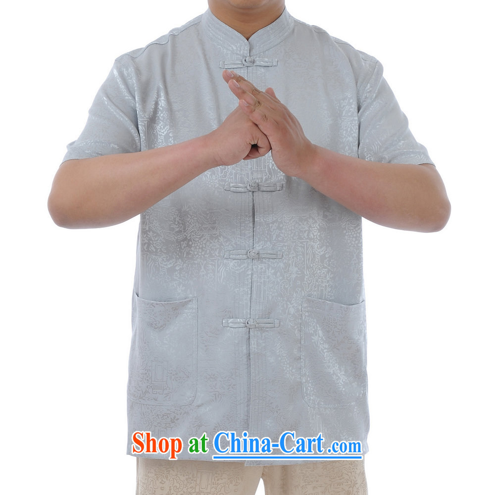 Kosovo, in MU older Tang replacing kit men's Summer Package older persons short-sleeve Tang package loaded with Father Tang with silver 52
