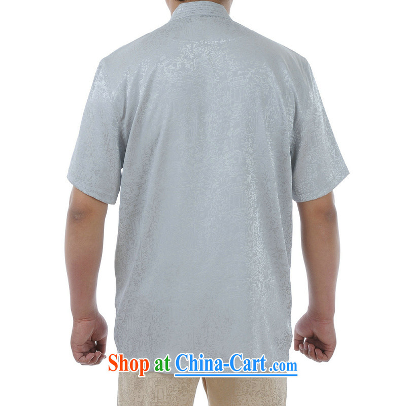 Kosovo, in MU older Tang replacing kit men Summer Package older persons short-sleeve Tang replace Kit Dad loaded Tang with silver 52, MU (woermu), online shopping