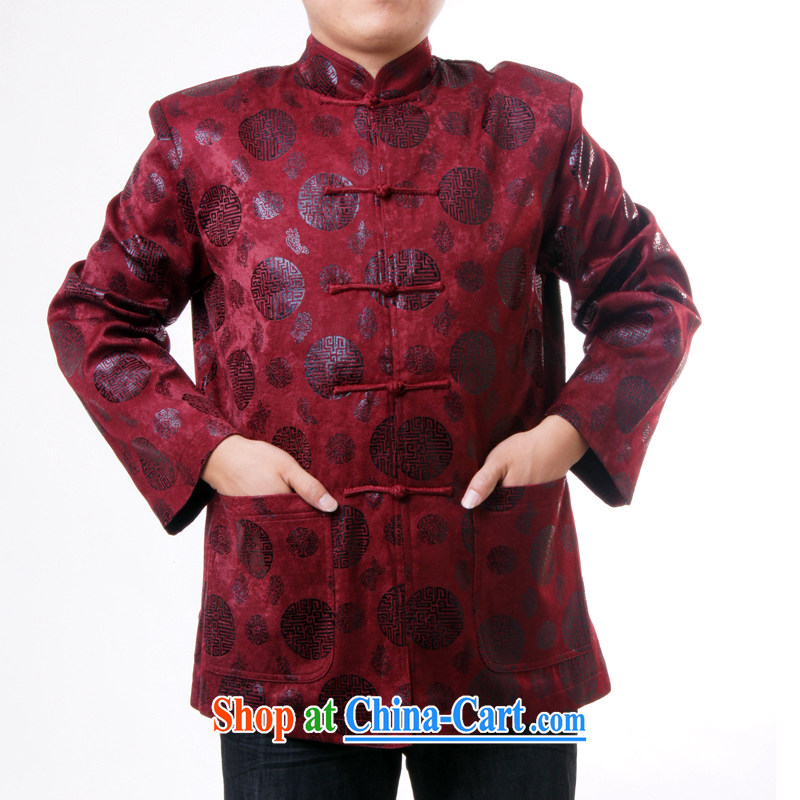 Sureyou men's upscale Chinese Tang with men and, for the charge-back round-the Chinese Spring and Autumn and replace the older jacket 1283 deep red 190, the British Mr Rafael Hui (sureyou), shopping on the Internet