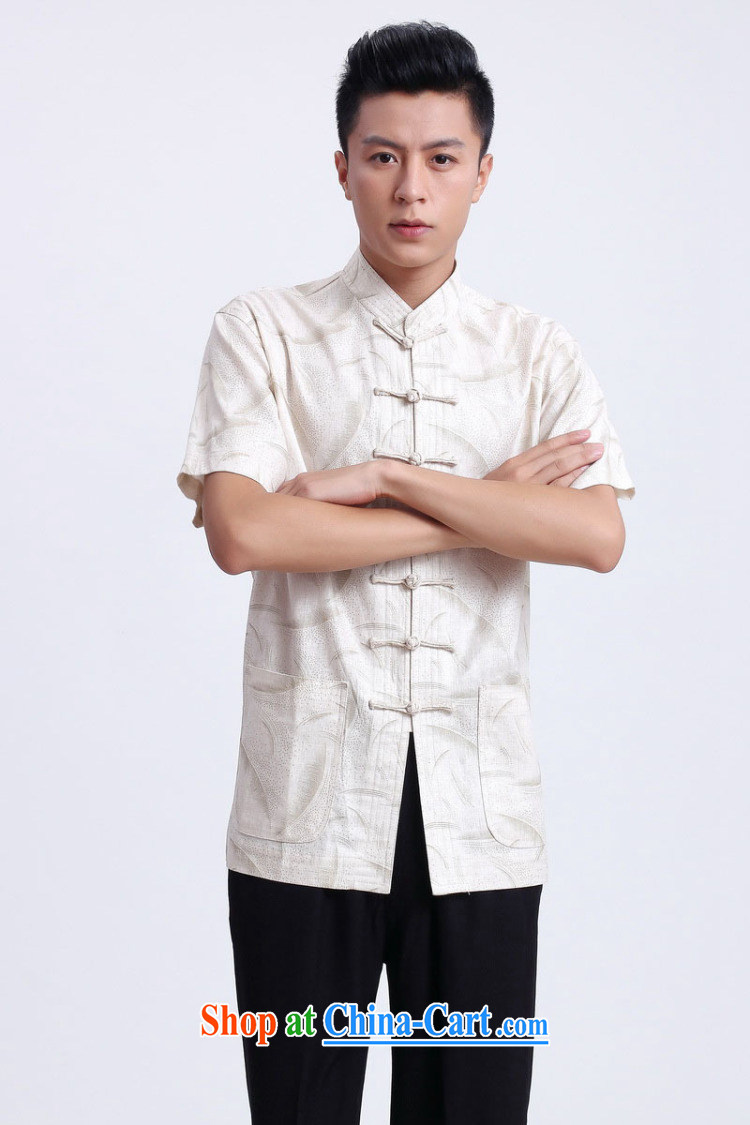 And Jing Ge older Chinese men and summer Chinese improved breathable water absorption, for Chinese men's short-sleeved larger male 2372 - 1 white XXXL pictures, price, brand platters! Elections are good character, the national distribution, so why buy now enjoy more preferential! Health
