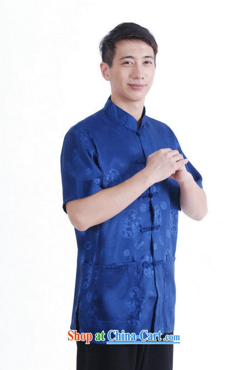 And Jing Ge older Chinese men and summer Chinese improved 9 has the Chinese men's short-sleeved larger man and cyan XXXL pictures, price, brand platters! Elections are good character, the national distribution, so why buy now enjoy more preferential! Health