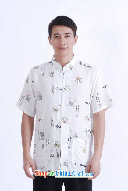And Jing Ge older Chinese men and summer Chinese improved the Chinese men's short-sleeved larger male white XXL pictures, price, brand platters! Elections are good character, the national distribution, so why buy now enjoy more preferential! Health