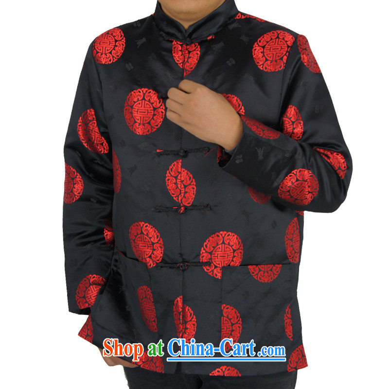 Sureyou ying, Mr Rafael Hui, for its part, is for the installation of new, men's leisure Spring and Autumn and Chinese, for Chinese round-pattern jacket 0799 black 190