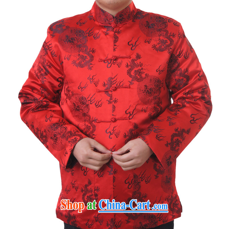 Sureyou Ying Shi, genuine male new spring men's casual male Chinese, for Chinese dragon pattern jacket 1102, red 190