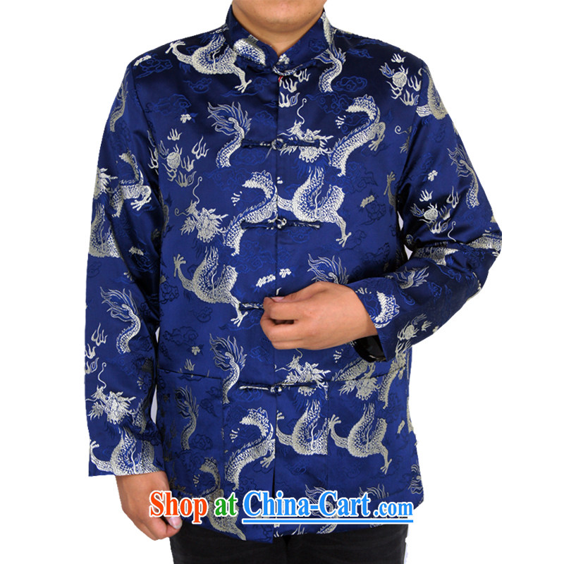 Sureyou ying, Mr Rafael Hui, for its part, is for the installation of new, men's spring casual male Chinese, for Chinese Blue Dragon jacket Blue Dragon, blue 190