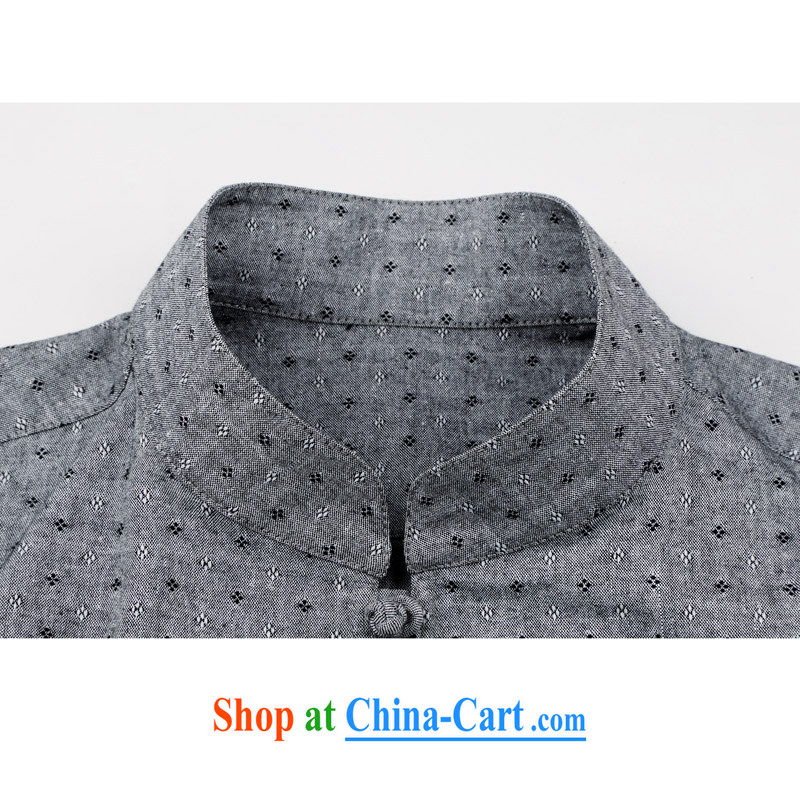 Spring and Autumn and long-sleeved light rain, men's cotton the Tang with Chinese Wind and stylish cotton the Chinese men's long-sleeved spring loaded Chinese, for Han-casual male Chinese long-sleeved T-shirt gray XXXL/190, and mobile phone line (gesaxing