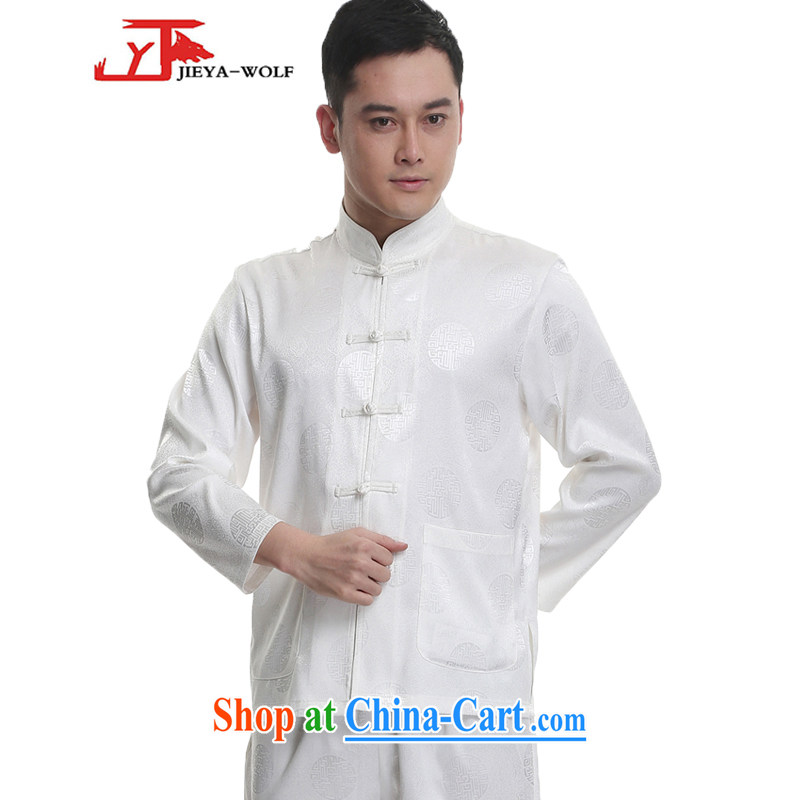 Jack And Jacob - Wolf JIEYA - WOLF 2015 new spring loaded Tang men's long-sleeved Kit men Tang with stylish spring sauna, silk 1000 Jubilee white 165/S
